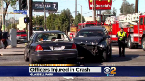 Traffic Crash Injures 7, Involves LAPD Cruiser