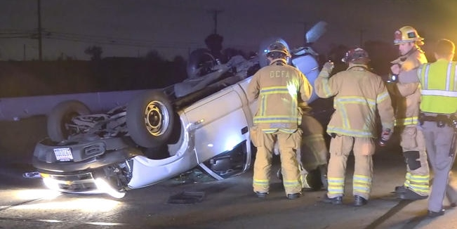 Multi-Car Pileup Kills 1 on 405 Fwy in Westminster