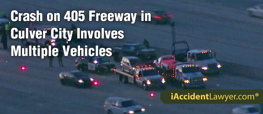 Culver City, CA - Crash on 405 Freeway Involves Multiple Vehicles