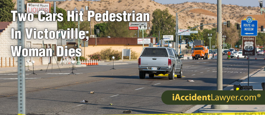 Victorville, CA - Two Cars Hit Pedestrian