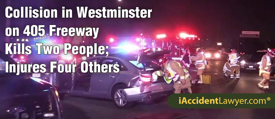 Westminster , CA - Collision on 405 Freeway Kills Two People