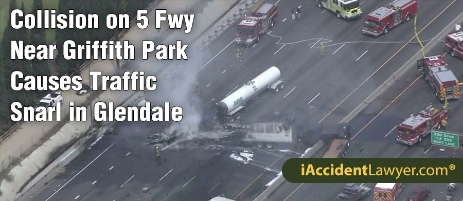 Collision On 5 Freeway Near Griffith Park Causes Traffic Snarl In Glendale