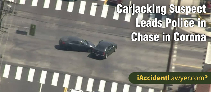 Corona CA Carjacking Suspect Leads Police In Chase