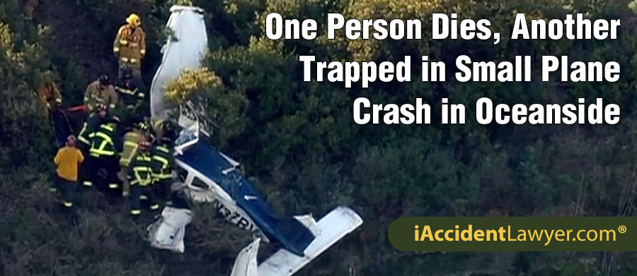 Oceanside, CA - One Person Dies, Another Trapped in Small Plane