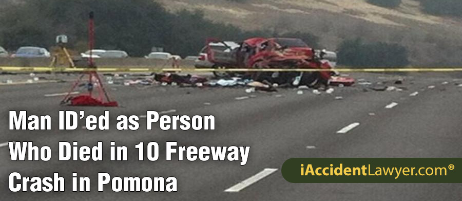 Pomona, CA - Zachary Munoz ID'ed as Person Who Died in 10 Freeway