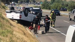 San Luis Obispo, CA - Two-vehicle Crash Causes Rollover on